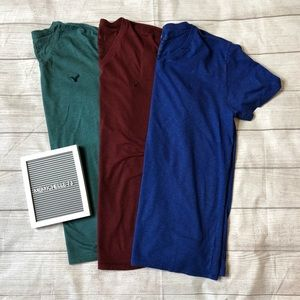 American Eagle Mens Large V-Neck T-shirt Bundle